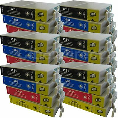 24 CiberDirect Replacements For Epson T1285 Printer Ink Cartridges - VAT Invoice • 29.09£