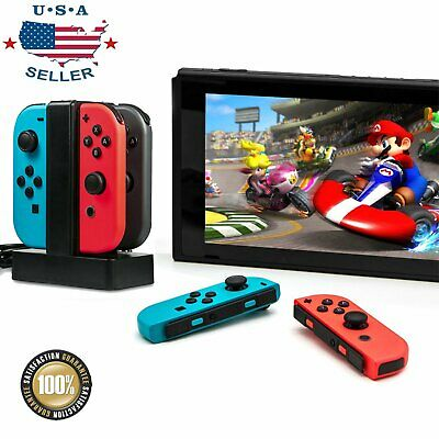 $10.99 • Buy For Nintendo Switch Joy-con 4 Port Controller Charger Charging Dock Station USA