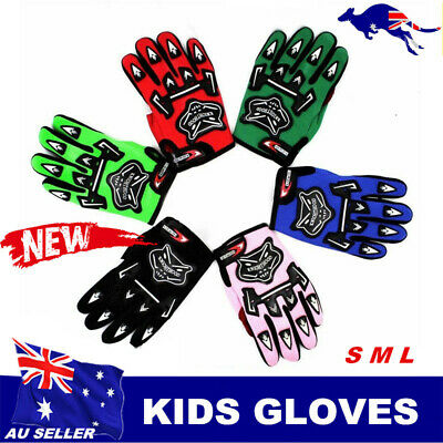 AU9.56 • Buy Kids Youth Gloves Motorbike Motocross MX ATV Quad Dirt Trail Pit Bike Skating