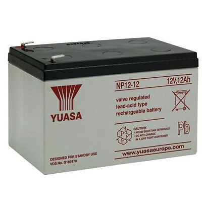 Yuasa NP12-12 - 12 Volt 12ah As 14ah Battery For Kids Electric Toy Car/ Scooter • 34.99£