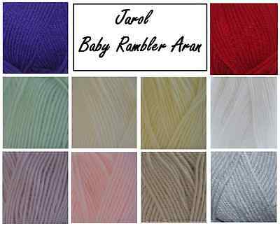Aran Baby Wool, Baby Rambler From Jarol, Knitting & Crotchet Yarn , 11 Colours • 1.50£