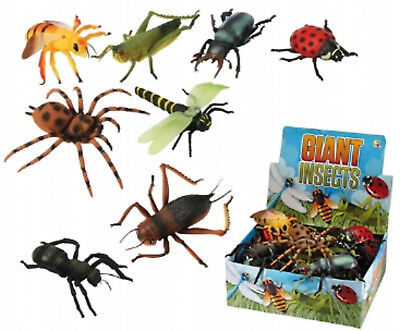 £2.49 • Buy Giant Plastic Insects Toy 6 - 8 Inch Long Flying Bugs Spider Wasp Mini Beasts