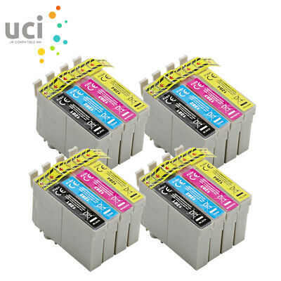 16 Ink Cartridge For Printer Replace T1281 T1282 T1283 T1284 T1285 UCI Brand • 10.59£