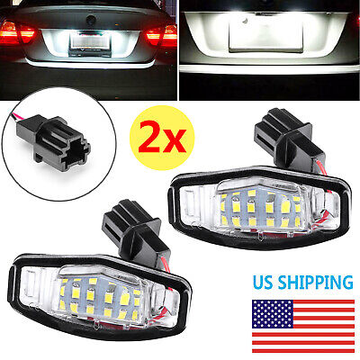 $9.79 • Buy 2 LED License Plate Light For Honda Accord Civic Acura TSX TL Direct Replacement