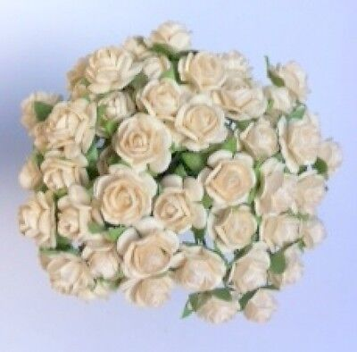 £3.80 • Buy  50 IVORY MULBERRY PAPER OPEN ROSES/FLOWERS 1cm (10mm) And 1.5cm (15mm)