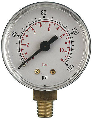 $11.70 • Buy  Air Pressure Gauges 2 Inch Diameter Bottom Entry ABS And Brass, Up To 3/8 Bsp,
