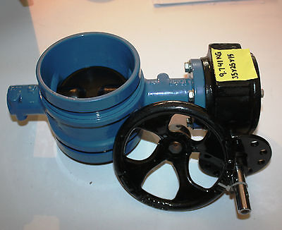 AU165 • Buy 4  Inch 100mm DN100 Shouldered Butterfly Valve With Gearbox NEW