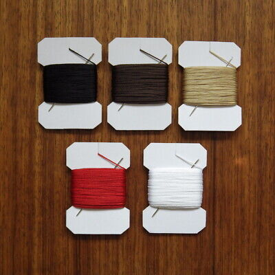 £3.29 • Buy VERY STRONG LEATHER SEWING THREAD 1mm THICK PLUS  BLUNT NEEDLE