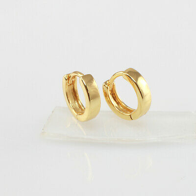 AU5.99 • Buy 8 Mm, Kids Earrings, 22k Gold Filled Mini Huggie Hoop Earrings / Helix Earrings