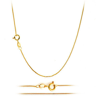 $5.25 • Buy 18K Gold Plated Classic Italian Thin Box Chain Necklace For Pendants - ALL SIZES