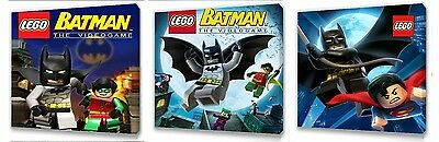 £9.99 • Buy Lego Batman  Kids Canvas Wall Art Plaque Pictures Set Of Three Pack I