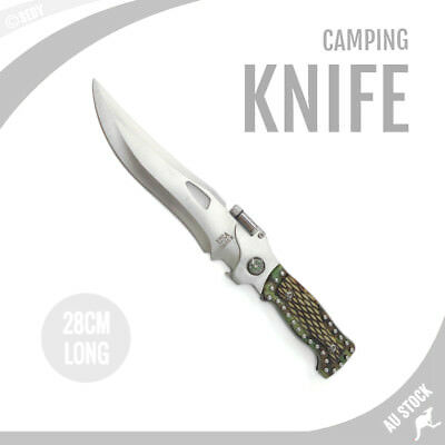 AU19.99 • Buy 11  Sharp Knife Survival Hunting Knife Partially Camping Tactical COME WITh CASE