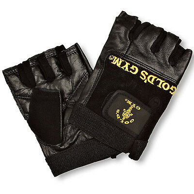 Golds Gym Max Lift Leather Weight Lifting Gloves Body Building Exercise Training • 7.99£
