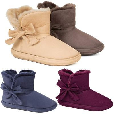 £13.95 • Buy Ladies Slipper Boots Womens Slippers Winter Thermal Ankle Bootie Warm Shoes Size