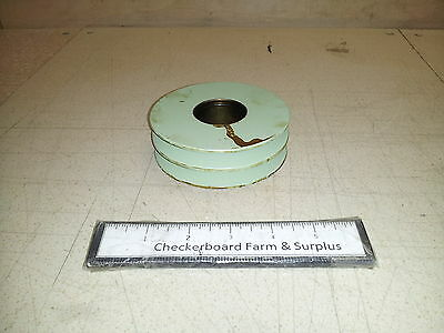 $75 • Buy NOS Double V-Groove Pulley M548 12268974 3020011252636 1.57  ID 4.28  OD
