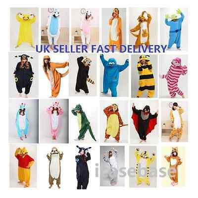 Anime Pajama Animal Cosplay Pyjama Costume Hoodies Adult Onesie88 Fancy Dress UK • 22.99£