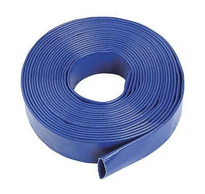 Blue Pvc Layflat Hose-water Discharge Pump / Irrigation / Lay Flat Delivery Pipe • 14.50£