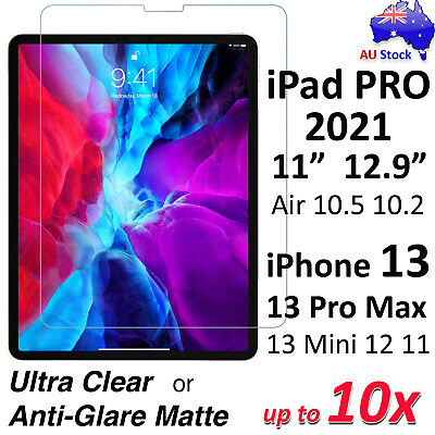 AU6.99 • Buy Ultra Clear Or Matte Screen Protector For IPad Air 10.9  Pro 11  12.9  IPhone 12