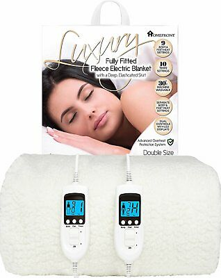 £79.95 • Buy Homefront Double Electric Blanket Heated Bed Under Cover Washable Dual Control