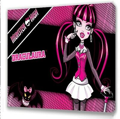 Monster High Draculaura  Kids Bedroom Canvas Picture  • 7.49£