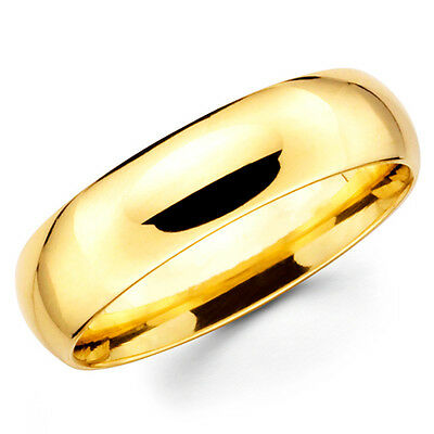 $268.50 • Buy 14K Solid Yellow Gold 6mm Comfort Fit Men's And Women's Wedding Band Ring