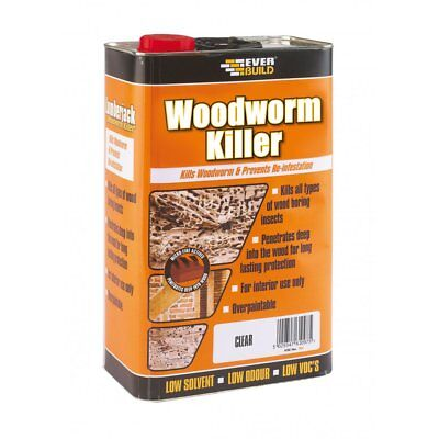 £17.70 • Buy Everbuild Woodworm Insect Killer Wood Treatment Low Odour & Solvent 5 Litre