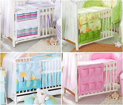 Cot Tidy Organiser For Cot & Cot Bed Many Designs 6 Pockets • 10.89£