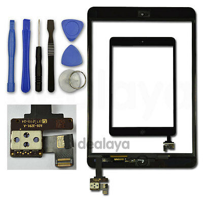 £7.99 • Buy Front Glass Touch Screen Digitizer Replacement For IPad Mini1/2 Black IC Button