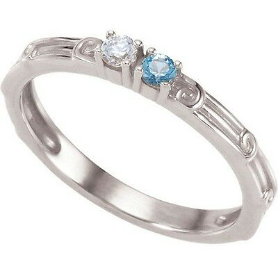 $65 • Buy Mother's Jewelry Sterling Silver 1 To 4 Round Birthstones Mothers Ring
