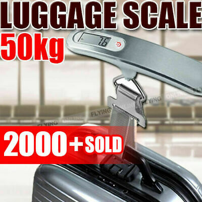 AU15.89 • Buy Electronic Portable Digital Luggage Scale Travel 50 KG Measures Weight Weighing