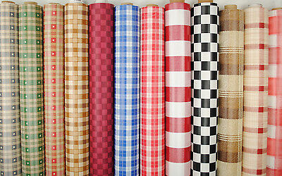 £6.87 • Buy Wipe Clean Tablecloth Oilcloth Vinyl PVC Chequered Gingham Checks 140cm Wide