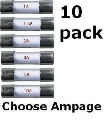 10 X 20mm Fast Acting Quick Blow Glass Fuse Fuses 1 To 10 AMP • 1.95£