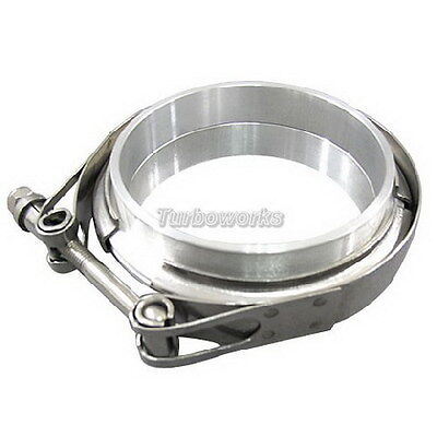 AU73.53 • Buy 4  V-Band Clamp & Flange Kit W/ O-ring ALUMINUM Universal Intercooler Turbo Pipe