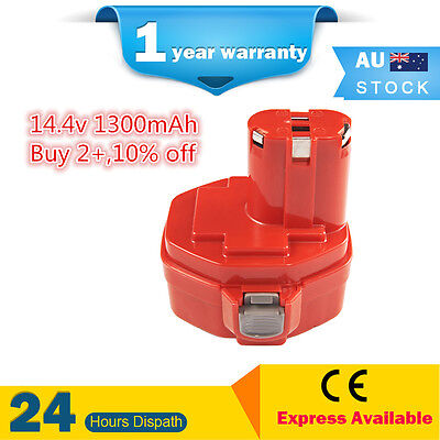 AU28.99 • Buy 14.4V 1.3Ah Ni-Cd Battery For MAKITA PA14 Combi Drill Driver Cordless 14.4Volts
