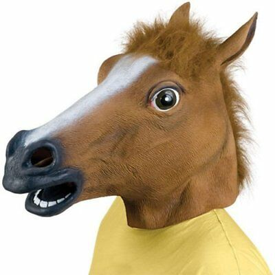 £13.49 • Buy Horse Head Mask Rubber Panto Fancy Dress Party Cosplay Halloween Adult Costume