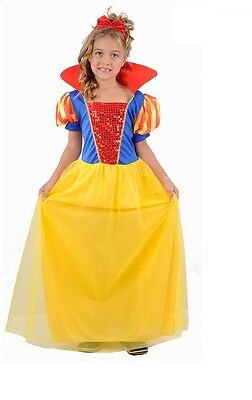 £8.25 • Buy Girls Child Kids SNOW WHITE Fancy Dress Costume Fairy Princess Outfit Dress-up