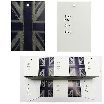 £3.99 • Buy Unstrung Union Jack Designer Tickets For Tagging Clothes  Prices,style,size