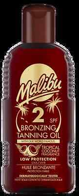 Malibu Bronzing Tanning Oil SPF 2 With Tropical Coconut Fragance 200ml • 6.99£