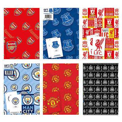 Football Wrapping Paper Wrap OFFICIAL Christmas Xmas Birthday • 4.95£