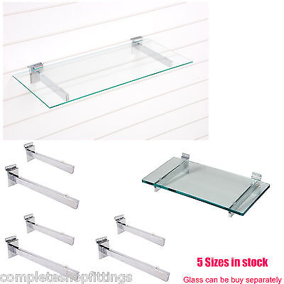 £7.14 • Buy GLASS SHELF BRACKETS (pair)  SLATWALL SLATBOARD WITH SUCTION PADS FOR HOLD GLASS