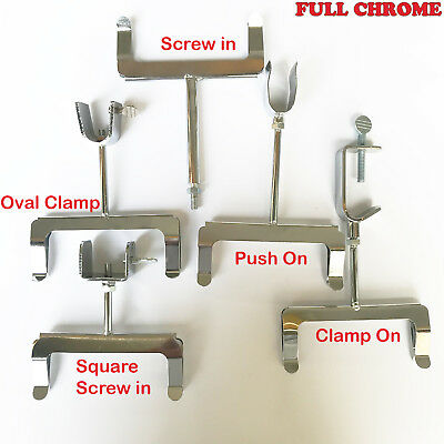 £3.99 • Buy Chrome Display Price Ticket Card Holder Clothes Rail *clamp On / Screw / Push In