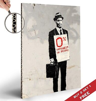 $5.51 • Buy BANKSY 0% INTEREST IN PEOPLE A4 POSTER Graffiti Street Wall Art Print Picture