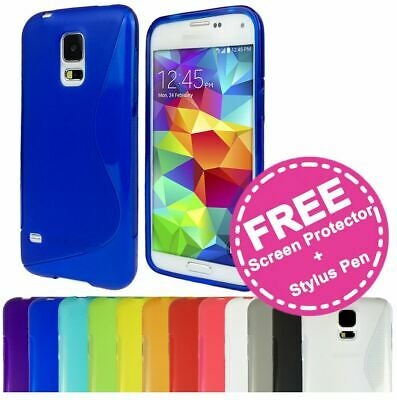 AU3.95 • Buy QSoft Gel S Curve TPU Silicone Back Cover Case For Samsung Galaxy S5 SV 4G I9600