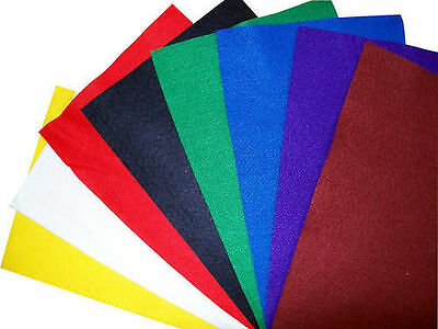 8 Pack Assorted Premium Wool Blend Arts & Crafts Fabric Felt Sheets, Squares,   • 0.99£