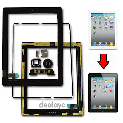 £6.92 • Buy For Ipad 2 Black Replacement Screen Touch Digitizer +mid Frame Bezel&home Button