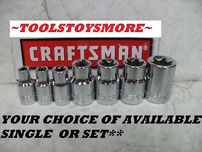 $3.98 • Buy New Craftsman External Female Torx Socket Choice Of Single Or 7 Pc Set
