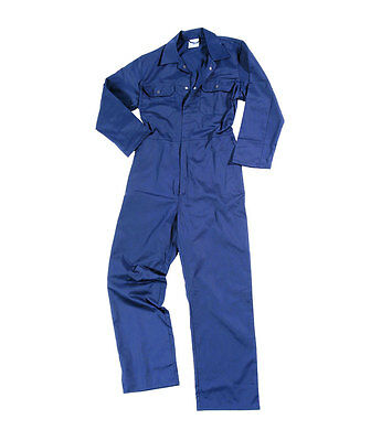 £13.95 • Buy Stud Front MENS BOILER SUIT OVERALL COVERALL MECHANIC COLLEGE WORK NAVY BLUE