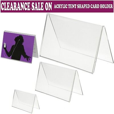 £8.04 • Buy 3x Clear Menu Show Card Name Place Table Setting Display Tent Stand Holders