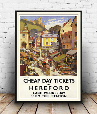 £10.99 • Buy Hereford :  Old Railway Advertising  Poster Reproduction