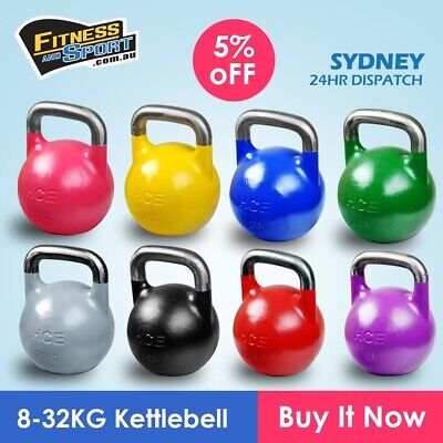 AU54.99 • Buy Competition Kettlebell 8KG To 24KG Steel Pro Grade Kettle Crossfit Solid Weight